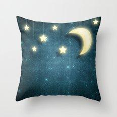 Moon & Stars 01 Throw Pillow