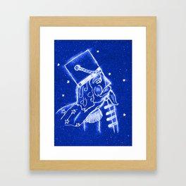 Nutcracker in Bright Blue Framed Art Print