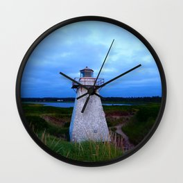 Lighthouse in the Dunes Wall Clock