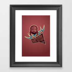 Bat'leths of Kronos Framed Art Print