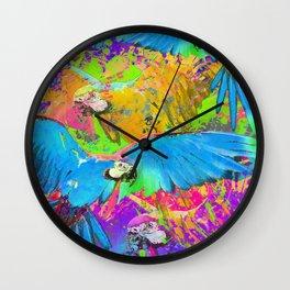 Macaw Fiesta  Wall Clock