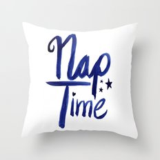 Nap Time | Lazy Sleep Typography Throw Pillow