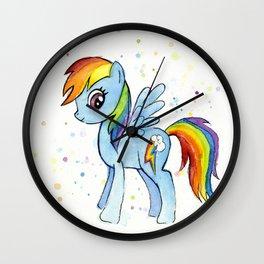 Rainbow Pony Wall Clock