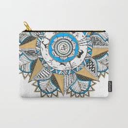 Gold & turquoise Mandala Carry-All Pouch