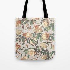 Soft Vintage Rose Pattern Tote Bag