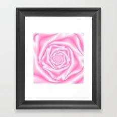 Pale Pink Spiral Rose Framed Art Print