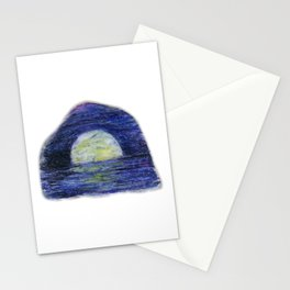 Moonscape by annmariescreations Stationery Cards