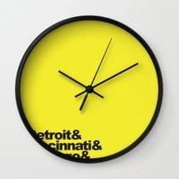 oz Wall Clocks featuring Oz by Ian Moten