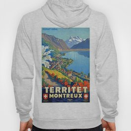 Vintage poster - Territet Montreaux Hoody