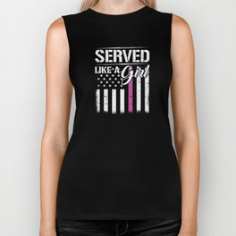 Served Like A Girl US Veteran Womens Female Military Biker Tank