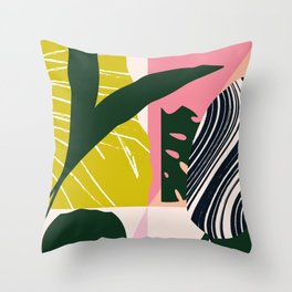 Tropical West Throw Pillow