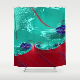 Grained Festiveness Fractal 9 Shower Curtain
