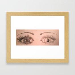 One Eye Framed Art Print