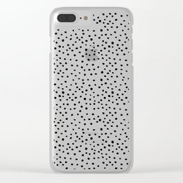 Brush Dots Clear iPhone Case