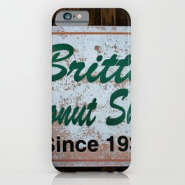 Britt's Donut Shop Sign 1 iPhone Case