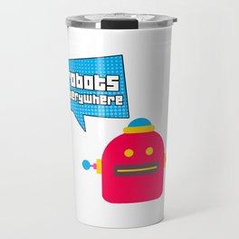 Robots Everywhere Speech Bubble Travel Mug