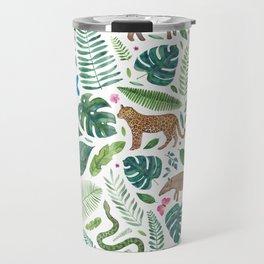 Jungle/Tropical Pattern Travel Mug