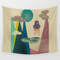 mars Wall Tapestries featuring life on mars by bri.b
