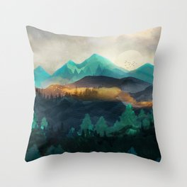 Green Wild Mountainside Deko-Kissen