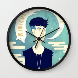 Ridicule Is No Shame Wall Clock