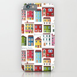 Burano, Italy (pattern) iPhone Case