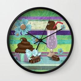 Sweetness Bakery Goods Mixed Media Wall Clock