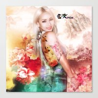 2ne1 Canvas Prints featuring Ciel of 2ne1 queen of china by LC_Korim