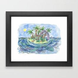 I'm On An Island Framed Art Print