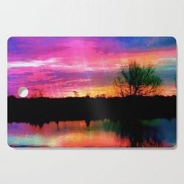 Watercolor January Texas Sunrise Cutting Board