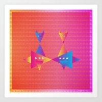 fleet foxes Art Prints featuring Music in Monogeometry : Fleet Foxes by Katrina Encanto