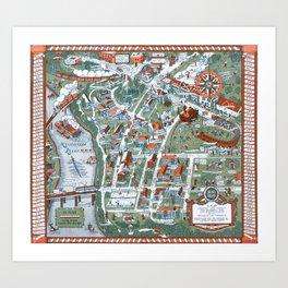 MINNEAPOLIS University map MINNESOTA dorm decor Art Print