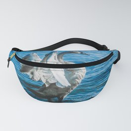 Spread Your Wings. Trumpeter Swan Photograph Fanny Pack