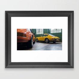 Classic vintage sports cars Framed Art Print