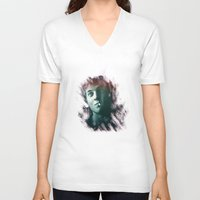 shameless V-neck T-shirts featuring shameless,Phillip Gallagher,lip by  Marina Teyya