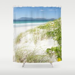 Beach with white sand and turquoise water in Cabo Frio - Brasil Shower Curtain