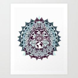 evolution of earth mandala Art Print