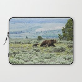 Heading South, No. 2 - Grizzly 399 and Cubs Laptop Sleeve