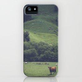 NEW ZEALAND ROADTRIP COW iPhone Case