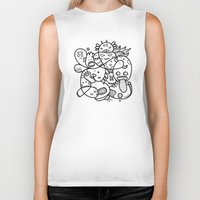 doodle Biker Tanks featuring Doodle by Tinyghost