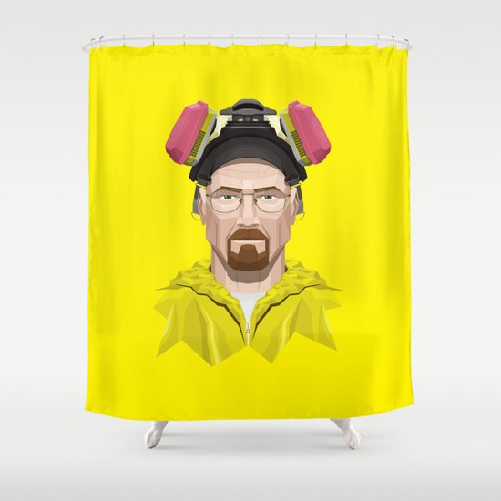 Breaking Bad - Walter White in Lab Gear Shower Curtain