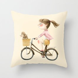 Get on Your Bike Throw Pillow