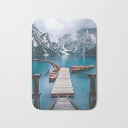 Lago di Braies, Italy #society6 #decor #buyart Bath Mat
