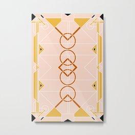 Art Deco - Mustard Blush Metal Print