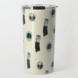 beige and gray Travel Mug