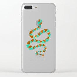 Geometric snake Clear iPhone Case