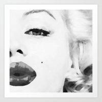 marilyn Art Prints featuring Marilyn by Xchange Art Studio