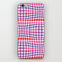 Dottywave - Red Pink Purple wave dots pattern iPhone Skin