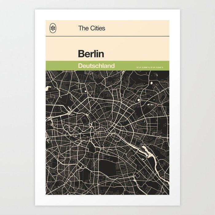 Berlin Map Kunstdrucke