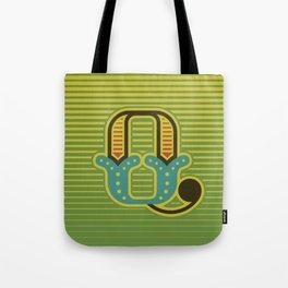 Alphabet Drop Caps Series- Q Tote Bag