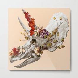 dinosaur skull Metal Print